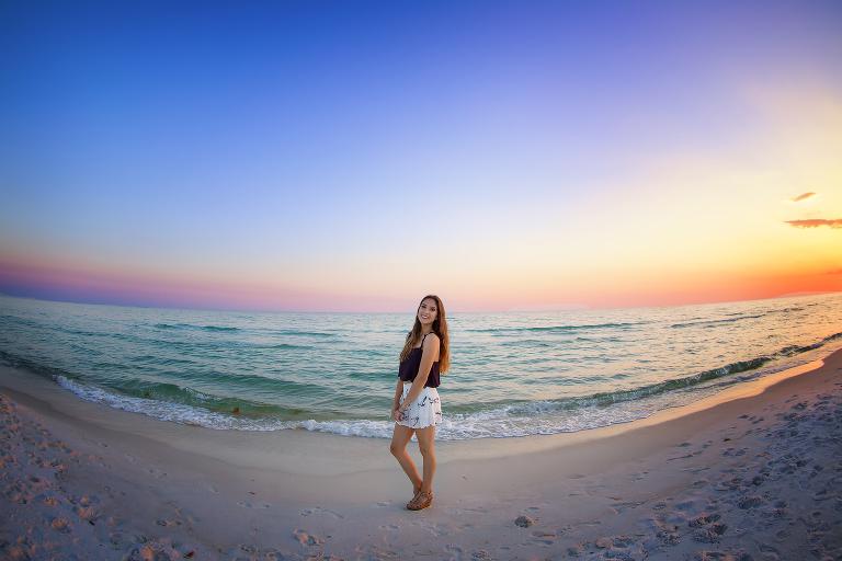 Amazing Sunset during Senior Photoshoot