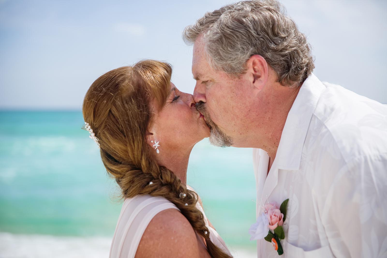 Wedding on a beach, couple portraits